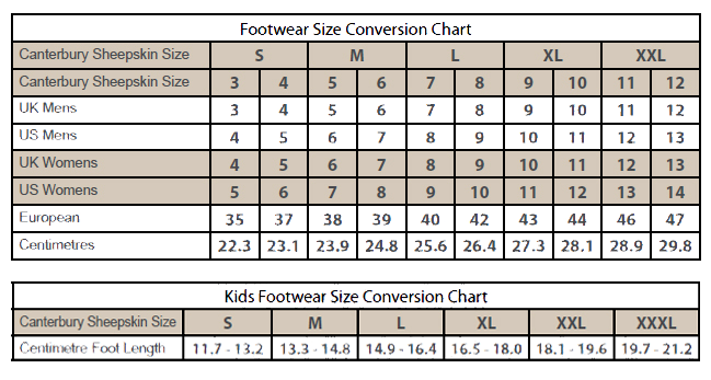 Garment Size Information The Tin Shed